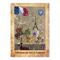 Invitation to a French Dinner 12,7 X 17,8 Cm Einladungskarte