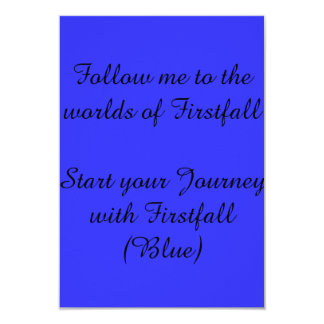 Invitation to firstfall (Promotional materials)