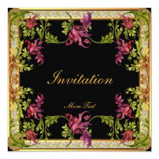 Invitation Vintage Victorian Floral Frame
