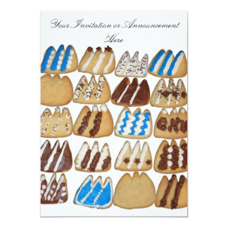 Invitation with Baked Cookies