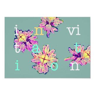 Invitations cactus flowers
