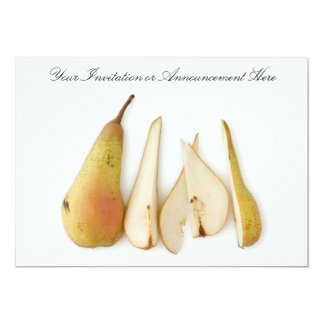 Invitations or Innouncements with Sliced Pear