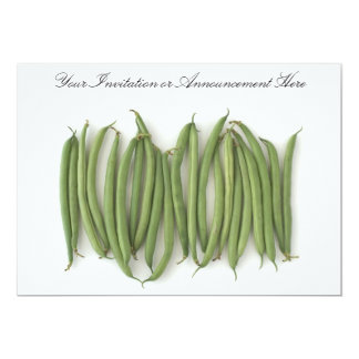 Invitations or Innouncements with String Beans