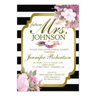 Invite | Vintage Look Bridal Shower with Flowers