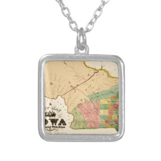 Iowa 1845 silver plated necklace