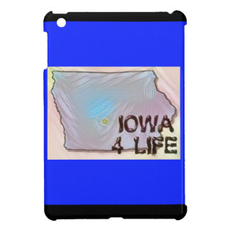 """Iowa 4 Life"" State Map Pride Design iPad Mini Covers"