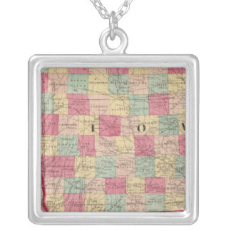 Iowa and Nebraska 2 Silver Plated Necklace