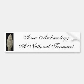 Iowa Archaeology Bumper Sticker