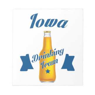 Iowa Drinking team Notepad