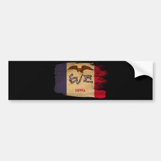Iowa Flag Bumper Sticker