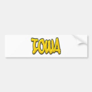 Iowa Graffiti Bumper Sticker
