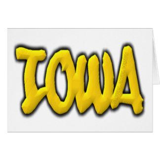 Iowa Graffiti Card