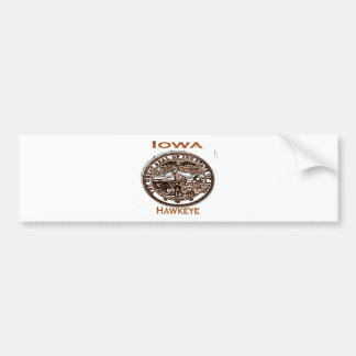 Iowa Hawkeye State Seal Bumper Sticker