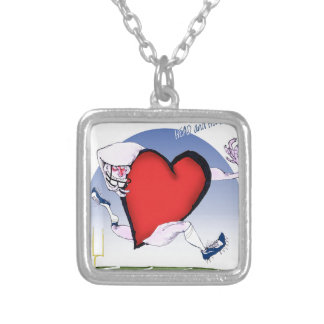 iowa head heart, tony fernandes silver plated necklace