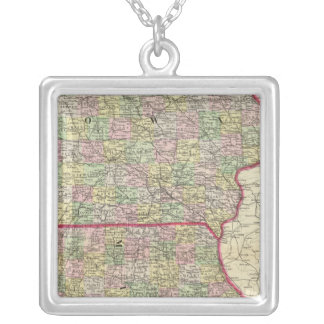 Iowa, Missouri Silver Plated Necklace