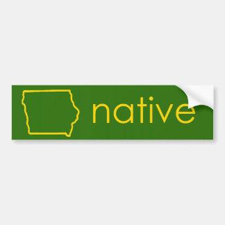 Iowa Native Bumper Sticker