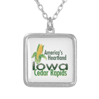 IOWA SILVER PLATED NECKLACE