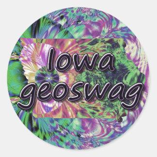 Iowa State Geocaching Supplies Stickers Geoswag