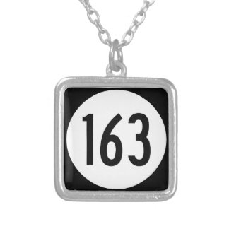 Iowa State Route 163 Silver Plated Necklace