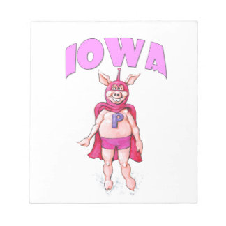 Iowa Super Pig Notepad
