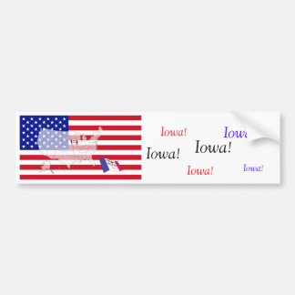 Iowa, USA Bumper Sticker
