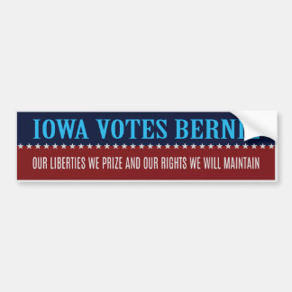 Iowa Votes Sanders Stickers (Iowa State Seal)