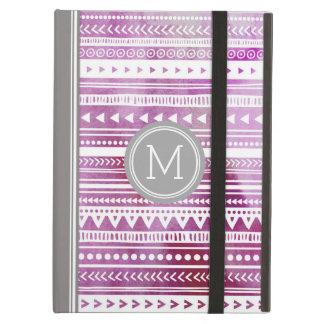 iPad Custom Monogram Watercolor Tribal Cover For iPad Air