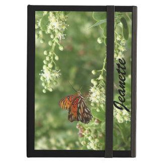 iPad  Folio Case, Orange Butterfly, Black Back iPad Air Cover