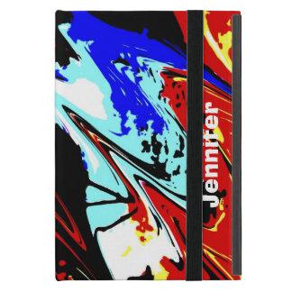 iPad Mini Folio Case, Colorful Abstract Covers For iPad Mini
