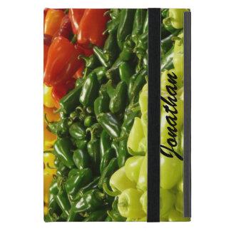 iPad Mini Folio Case, Hot Peppers, Green Covers For iPad Mini