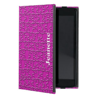 iPad Mini Folio Case, Hot Pink Jigsaw Cover For iPad Mini