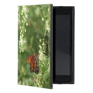 iPad Mini Folio Case, Orange Butterfly on Black iPad Mini Cases