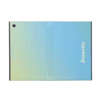 iPad Mini Folio Case, Pastel Blue to Yellow Fade iPad Mini Covers