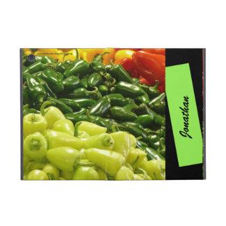 iPad Mini Folio Case Peppers & Stripe Yellow Black Cover For iPad Mini