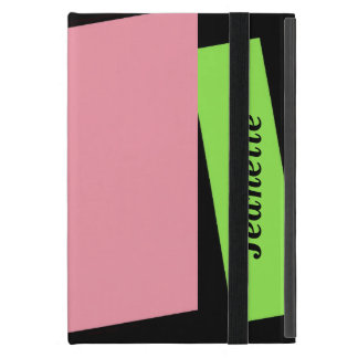 iPad Mini Folio Case, Pink and Neon Green iPad Mini Cover