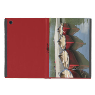 iPad Mini Folio Case, Red Canoes Cases For iPad Mini