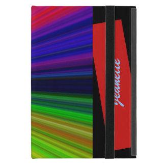 iPad Mini Folio Case, Starburst, Red Covers For iPad Mini