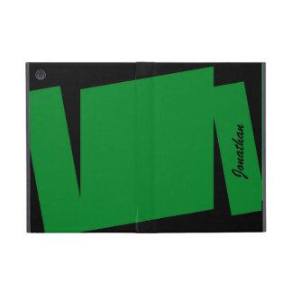 iPad Mini Folio Case, Triple Stripe of Color, Gree iPad Mini Case