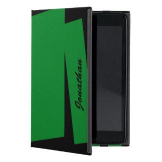 iPad Mini Folio Case Triple Stripe of Color, Green iPad Mini Case