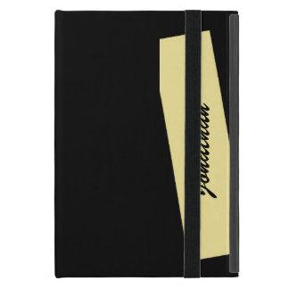 iPad Mini Folio Case, Triple Stripe, Tan & Black iPad Mini Covers