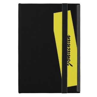 iPad Mini Folio Case, Triple Stripe, Yellow Black iPad Mini Cases