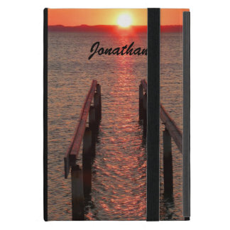 iPad Mini Folio Case, Walkway to the Sun Sunset Case For iPad Mini