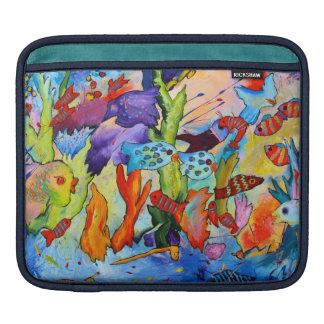 iPad sleeve featuring tropical fish