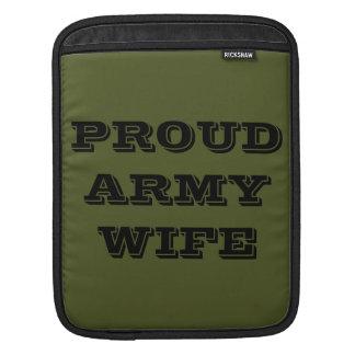 Ipad Sleeve Proud Army Wife
