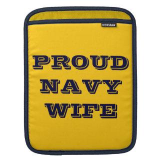 Ipad Sleeve Proud Navy Wife