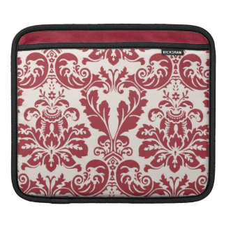 ipad sleeve...red and white damask sleeves for iPads