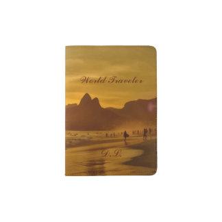 Ipanema Beach Sunset Monogram Passport Holder