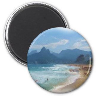 Ipanema_Painting 6 Cm Round Magnet