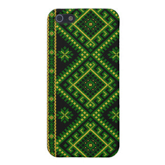 iPhone 4 / 4S Case Fabric Print Ukrainian Pattern Case For iPhone 5/5S