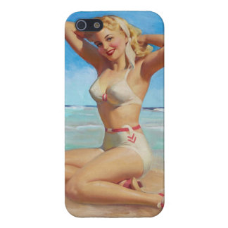 iPhone 4 Case. Retro Pinup Girl iPhone 5/5S Case